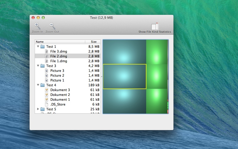 Screenshot af Disk Inventory X til Mac