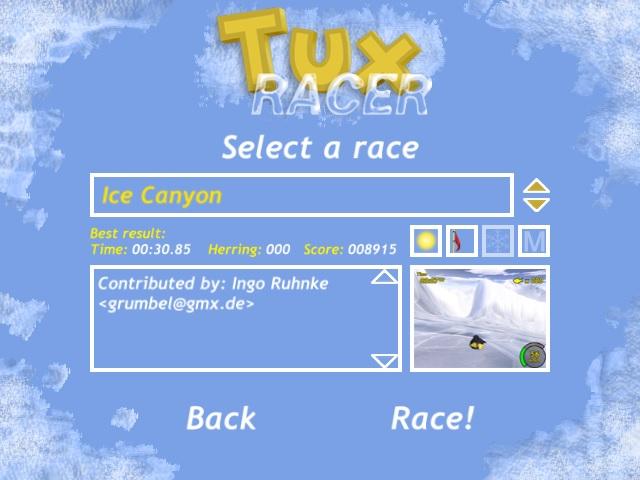 Screenshot af Tux Racer