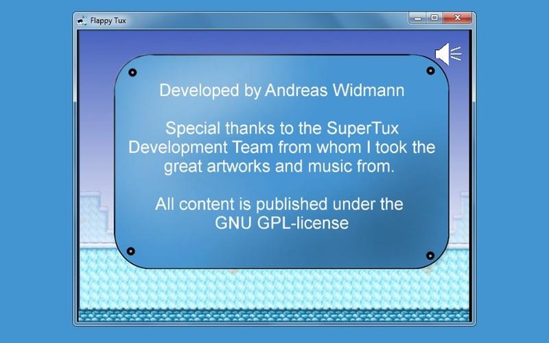 Screenshot af Flappy Tux til Mac