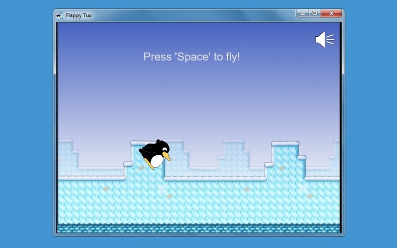 Screenshot af Flappy Tux