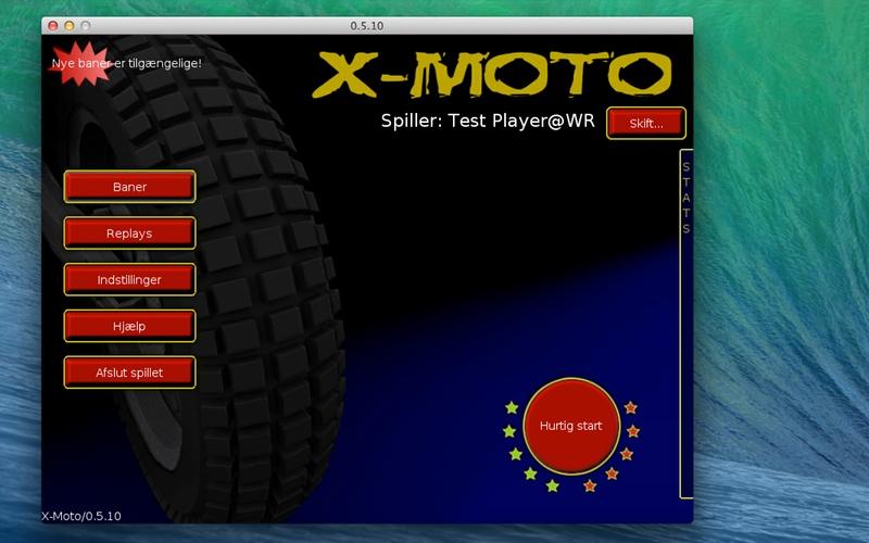 Screenshot af X-Moto til Mac (Dansk)