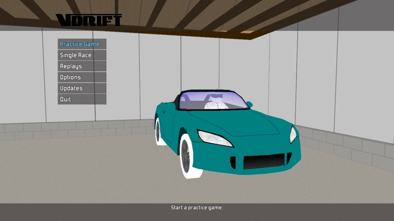Screenshot af VDrift