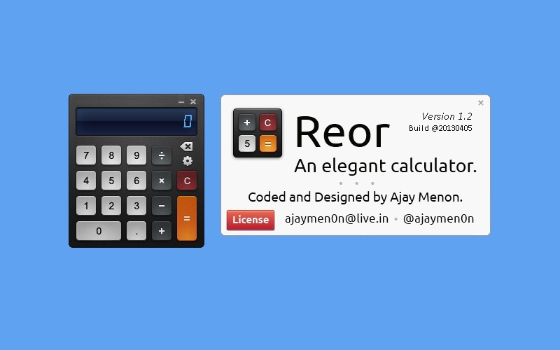 Screenshot af Reor