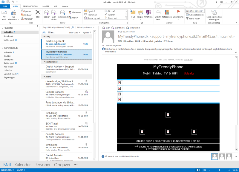 Screenshot af Office Home and Business