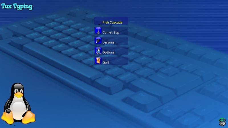 Screenshot af Tux Typing (Dansk)