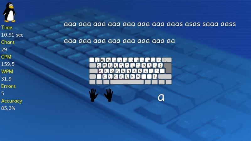 Screenshot af Tux Typing til Mac (Dansk)