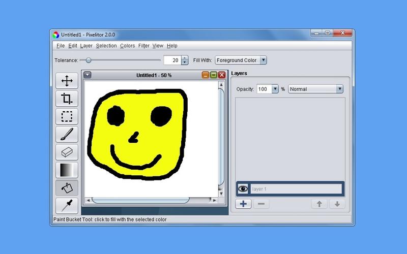 Screenshot af Pixelitor til Mac