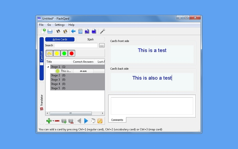 Screenshot af FlashQard