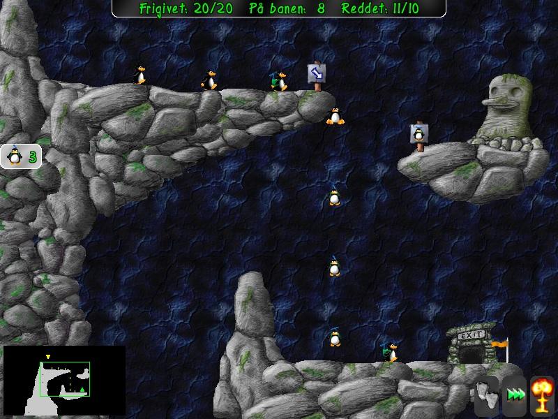Screenshot af Pingus til Mac (Dansk)