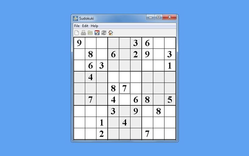 Screenshot af Sudokuki
