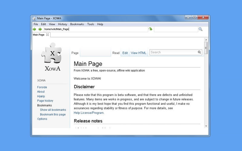 Screenshot af XOWA (64-bit)