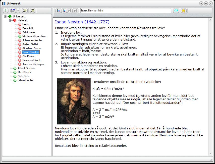 Screenshot af InfoStruk