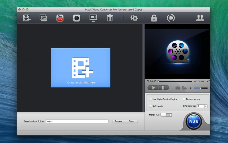 Screenshot af MacX Video Converter Pro