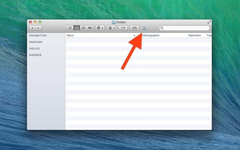 Screenshot af Hide-UnHide til Mac