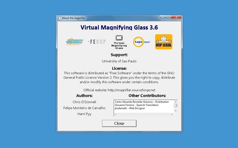 Screenshot af Virtual Magnifying Glass