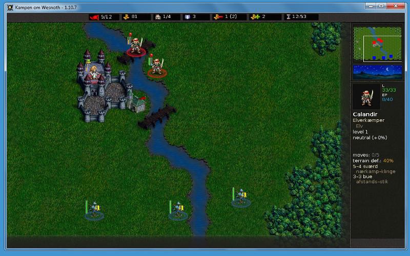 Screenshot af The Battle for Wesnoth