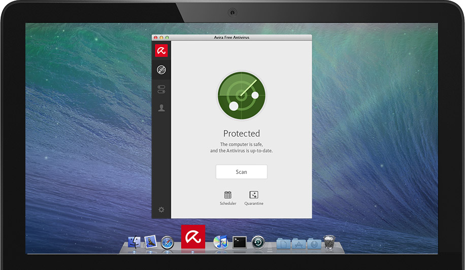Screenshot af Avira Antivirus til Mac