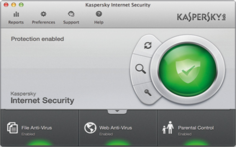 Screenshot af Kaspersky Internet Security til Mac