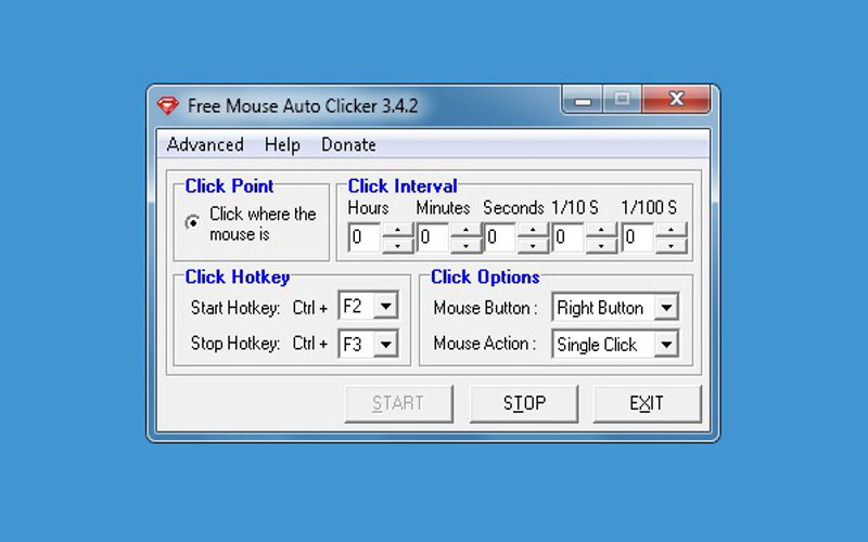 Screenshot af Free Mouse Auto Clicker