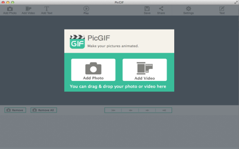 Screenshot af PicGIF til Mac