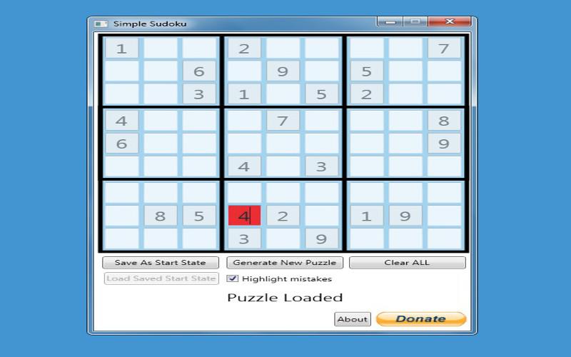 Screenshot af Simple Sudoku