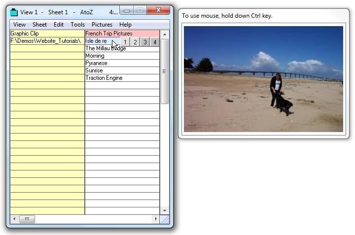 Screenshot af AtoZ Clipboard