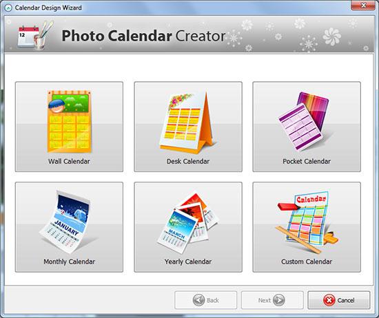 Screenshot af Photo Calendar Creator