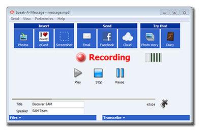 Screenshot af Speak-A-Message