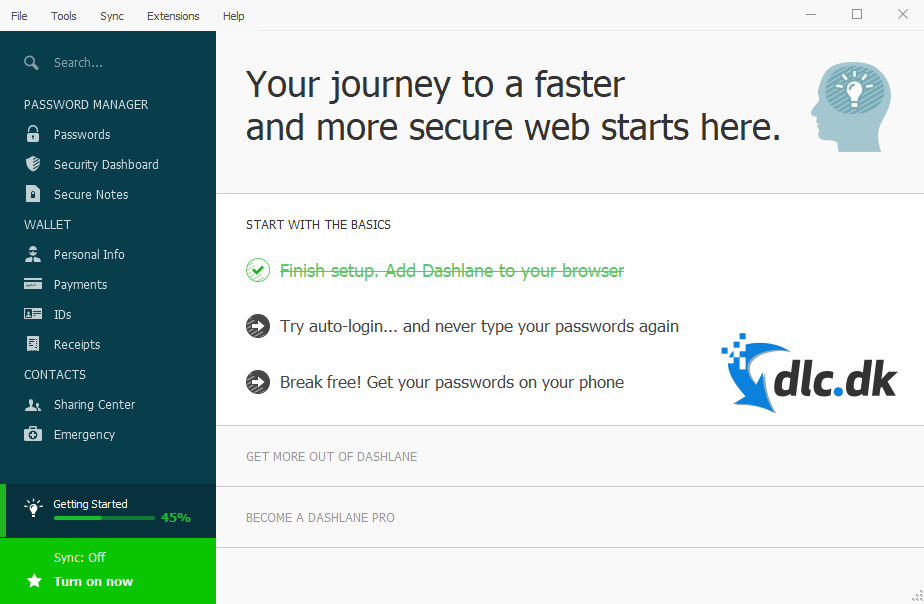 Screenshot af Dashlane
