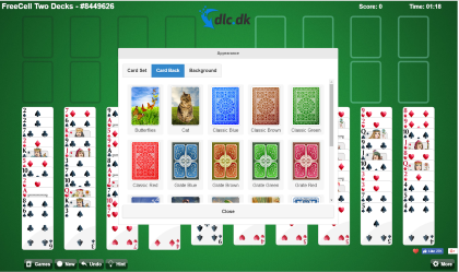 Screenshot af Free FreeCell Solitaire
