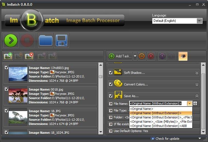 Screenshot af ImBatch