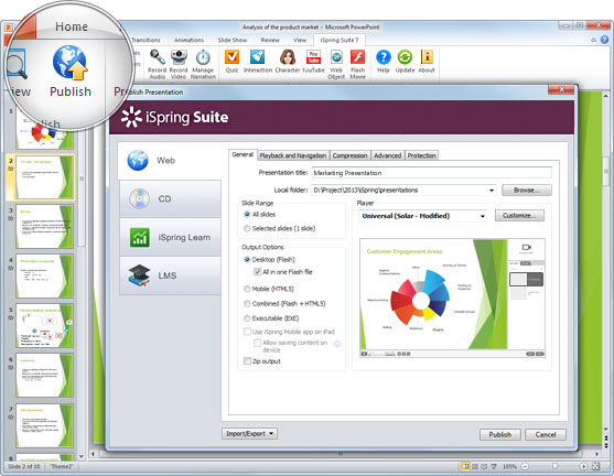 Screenshot af iSpring Suite 7