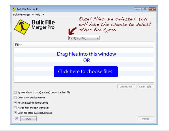 Screenshot af Bulk File Merger (Til Mac)