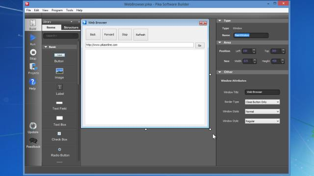 Screenshot af Pika Software Builder