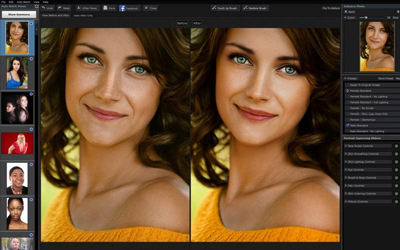 Screenshot af PortraitPro (Mac)