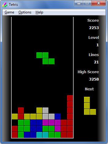 Screenshot af Tetris