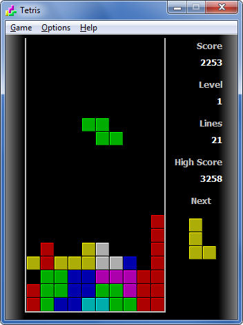 Screenshot af Tetris til Mac