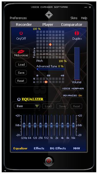 Screenshot af AV Voice Changer