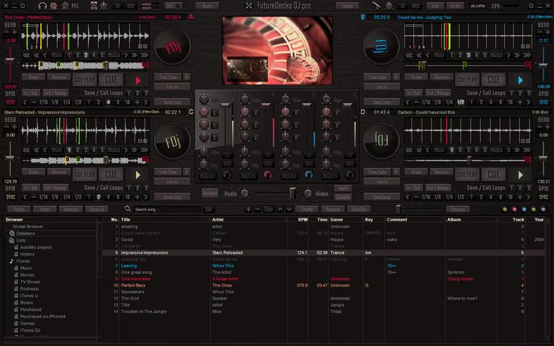 Screenshot af Future Decks DJ pro til Mac