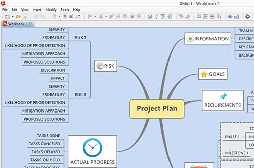 Screenshot af XMind til Mac