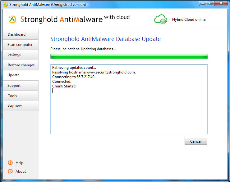Screenshot af Stronghold AntiMalware