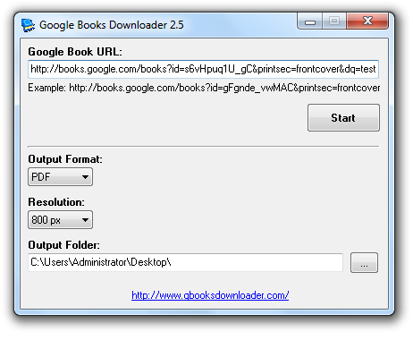 Screenshot af Google Books Downloader til Mac