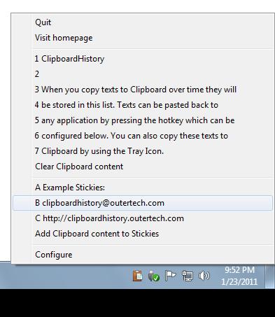 Screenshot af Clipboard History