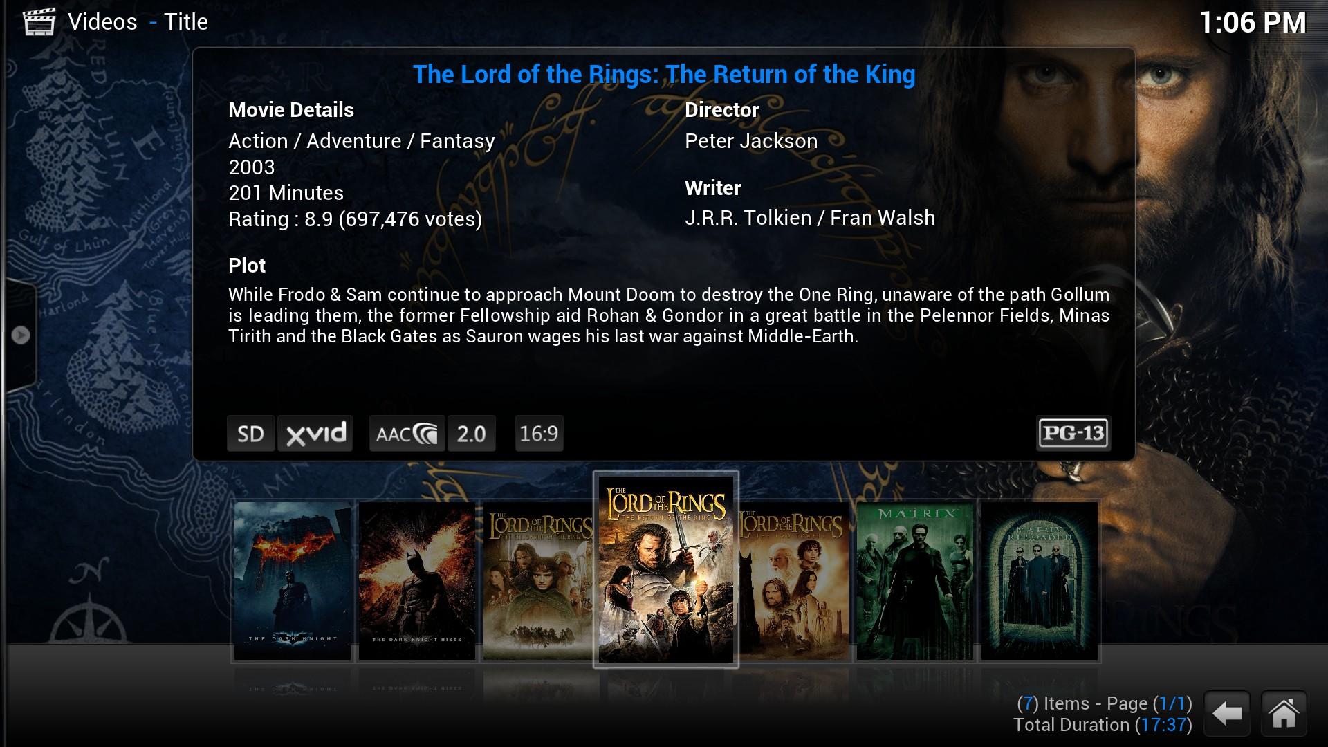 Screenshot af Kodi til Mac