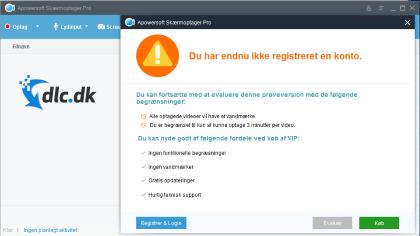 Screenshot af Apowersoft Gratis Skærmoptager (Dansk)