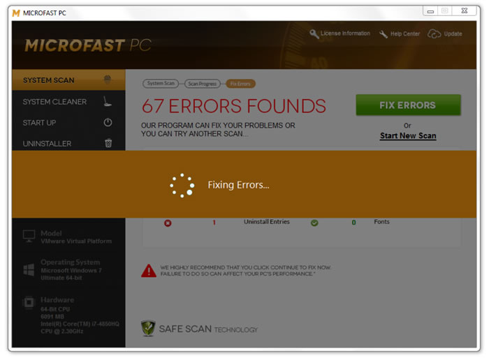 Screenshot af Microfast PC
