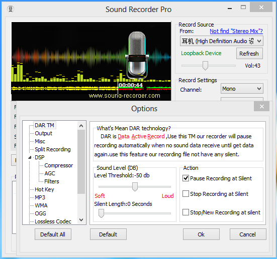 Screenshot af Sound Recorder Professional