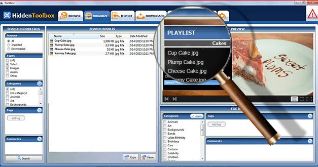 Screenshot af Hiddentoolbox
