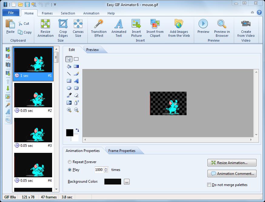 Screenshot af Easy GIF Animator