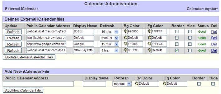 Screenshot af iCal